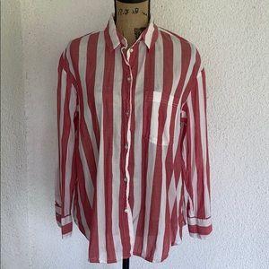 H&M striped button down shirt.